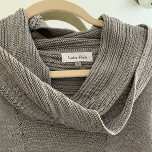 Calvin Klein knit gray cowl neck sweater - small